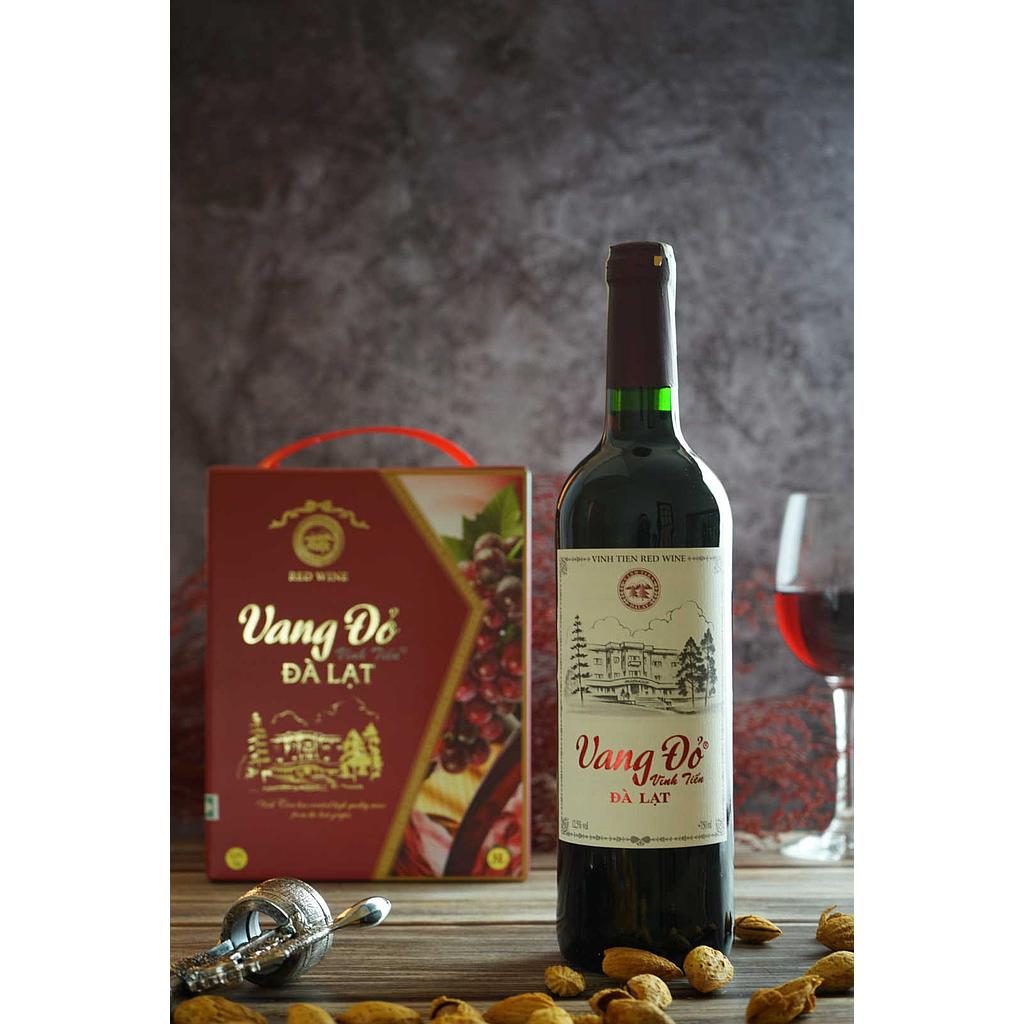 Vang đỏ 12,5% vol 750ml